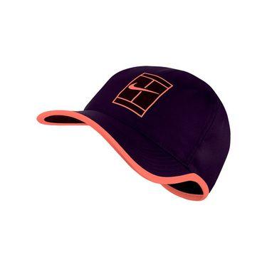 Nike Court Aerobill Feather Light Tennis Hat - Purple Dynasty/Bright Mango