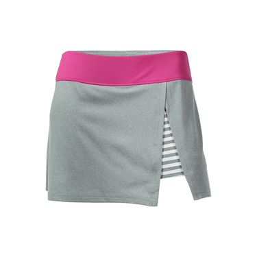 Bolle In the Pink Front Slit Skirt - Grey Heather