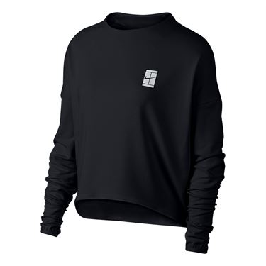 Nike Court Dry Long Sleeve Top - Black