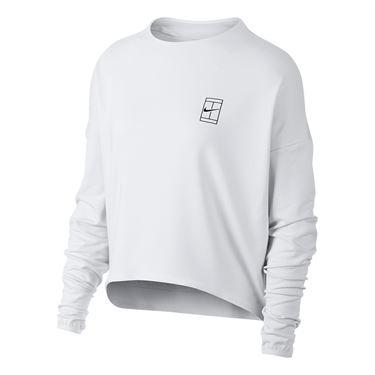 Nike Court Dry Long Sleeve Top - White