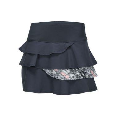 Bolle Serpentine Flounce Layered Skirt - Graphite