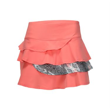 Bolle Serpentine Flounce Layered Skirt - Coral
