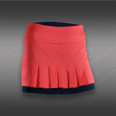 Bolle Cosmopolitan Front Pleat Skirt-Coral
