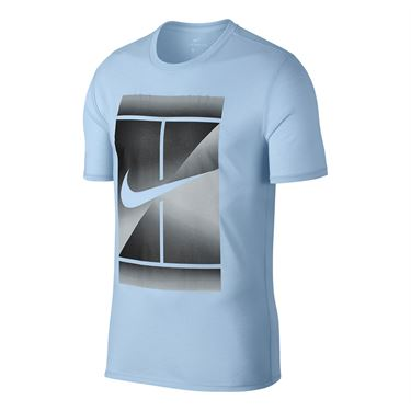 Nike Court Dry Tennis Tee - Hydrogen Blue
