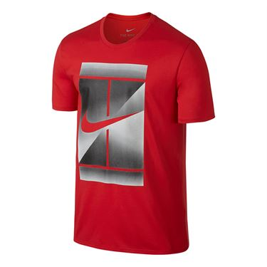 Nike Court Dry Tennis Tee - Action Red