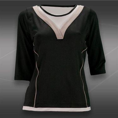 Bolle Manhattan 3/4 Sleeve Top-Black