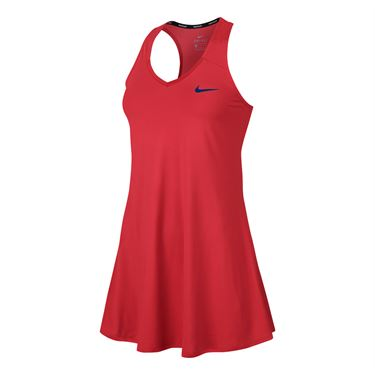 Nike Court Pure Tennis Dress - Action Red