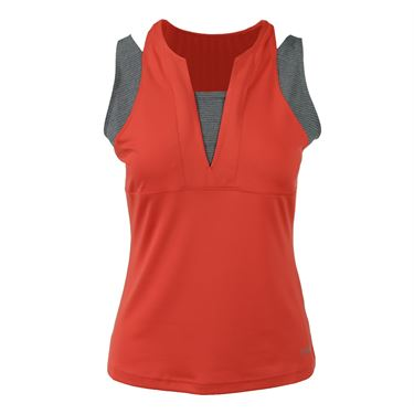 Bolle Margaux V Neck Strappy Tank - Orange