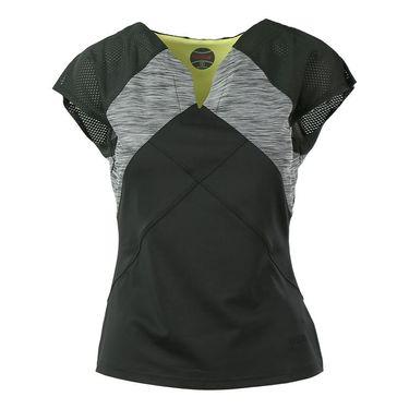 Bolle Melange Cap Sleeve Top - Black