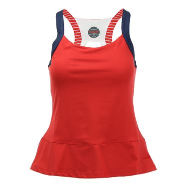 Bolle All American Peplum Tank - Bolle Red