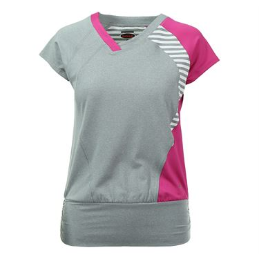 Bolle In the Pink Cap Sleeve Top - Grey Heather