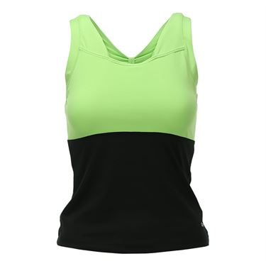 Bolle Twist of Lime Keyhole Back Tank - Black