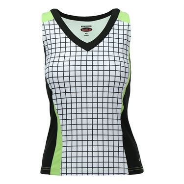 Bolle Twist of Lime Racerback Tank - White