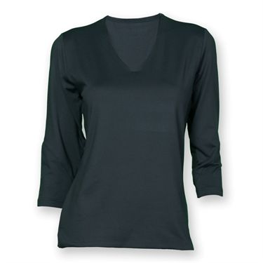 Bolle 3/4 Sleeve Top - Graphite