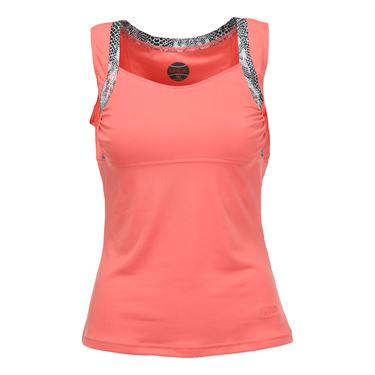 Bolle Serpentine Tennis Tank - Coral