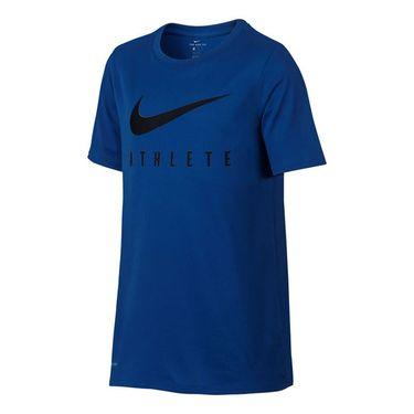 Nike Boys Dry Basketball Tee - Blue Jay