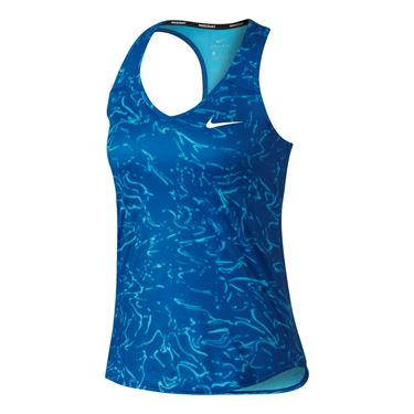 Nike Court Pure Printed Tank - Blue Jay