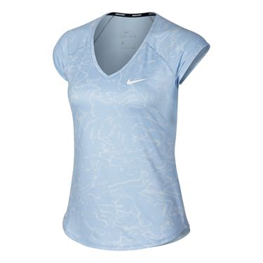 Nike Court Pure Tennis Top - Blue Tint
