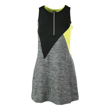 Bolle Melange Zipper Dress - Black