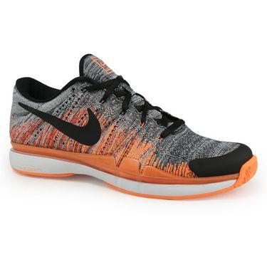 Nike Zoom Vapor Fly Knit Mens Tennis Shoe - Dark Grey/Black/Tart/White
