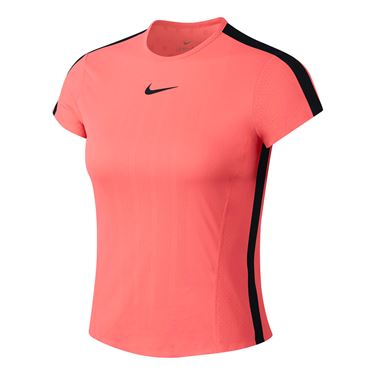 Nike Court Zonal Cooling Top - Lava Glow/Black