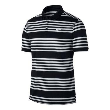 Nike Court Dry Stripe Polo - Black/White