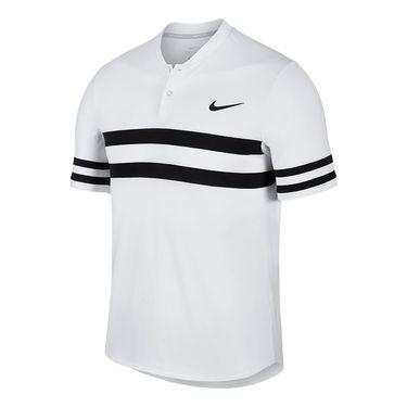 Nike Court Dry Advantage Stripe Polo - White/Black