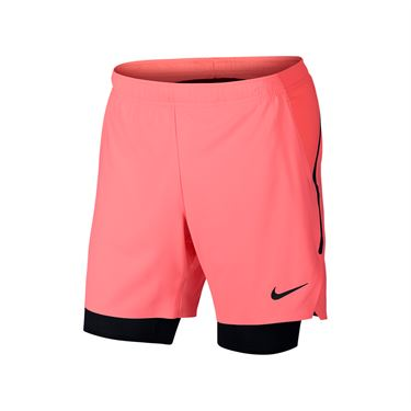 Nike Court Flex Ace Pro 7 Inch Short - Lava Glow/Black