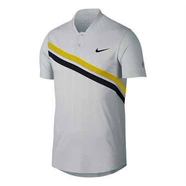 Nike Court Zonal Cooling RF Advantage Polo - Vast Grey/Bright Citron/Black