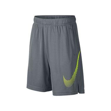 Nike Dry Boys Training Short - Cool Grey/Volt