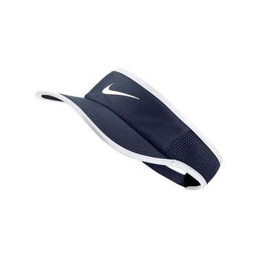 Nike Mens AeroBill Featherlight Tennis Visor - Midnight Navy/White