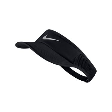 Nike Womens Aerobill Featherlight Visor - Black/Metallic Silver