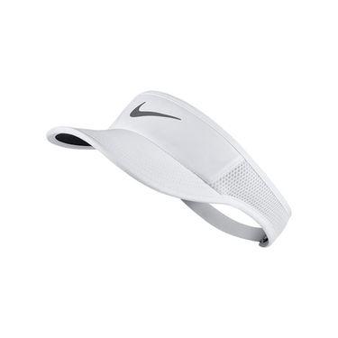 Nike Womens Aerobill Featherlight Visor - White/Black/Metallic Dark Grey