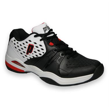 Prince Warrior Mens Tennis Shoe-White/Black/Red