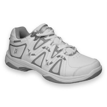 Prince Scream 4 Womens Tennis Shoe-White/Silver