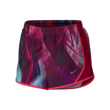 Nike Girls Dry Tempo Printed Short - Vivid Pink/Sport Fuchsia/Black