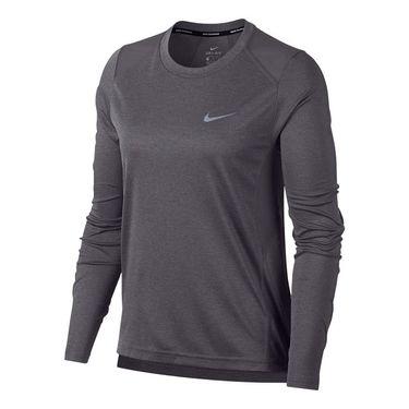 Nike Dry Miler Long Sleeve Top - Gunsmoke/Heather