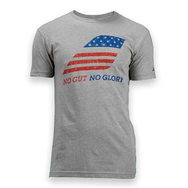 Babolat No Gut No Glory T-Shirt- Heather Grey