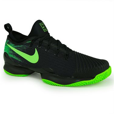 Nike Air Zoom Ultra React QS Mens Tennis Shoe - Black/Ghost Green/Electric Green