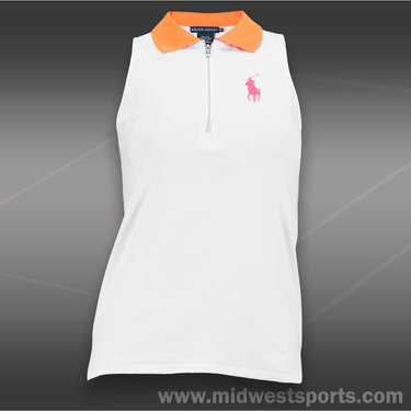 Polo Ralph Lauren Elite Wicking Jersey Polo-White/Orange