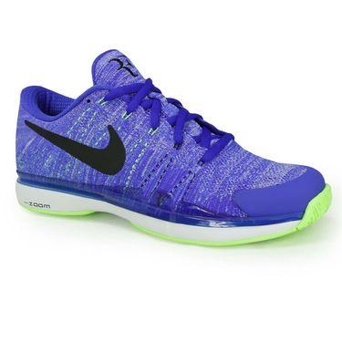 Nike Zoom Vapor Fly Knit RF Mens Tennis Shoe - Paramount Blue /Black/Ghost Green/White