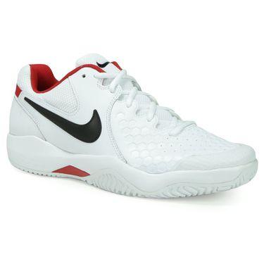 Nike Air Zoom Resistance Mens Tennis Shoe - White/Black/University Red