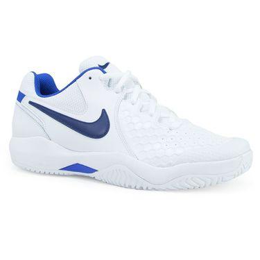 Nike Air Zoom Resistance Mens Tennis Shoe - White/Binary Blue/Mega Blue
