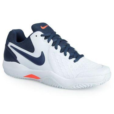 Nike Air Zoom Resistance Mens Tennis Shoe - White/Thunder Blue/Hyper Orange