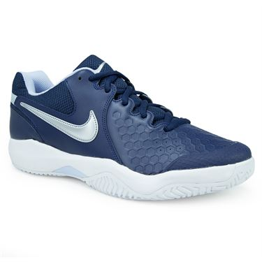 Nike Air Zoom Resistance Mens Tennis Shoe - Midnight Navy/Metallic Silver