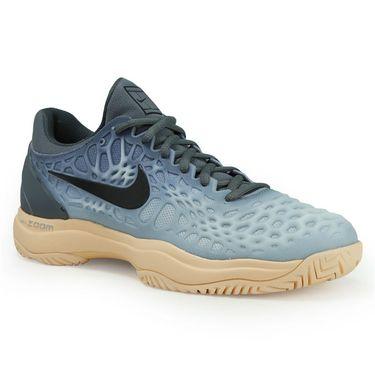 Nike Zoom Cage 3 Womens Tennis Shoe - Dark Grey/Black/Orange Quartz/Wolf Grey