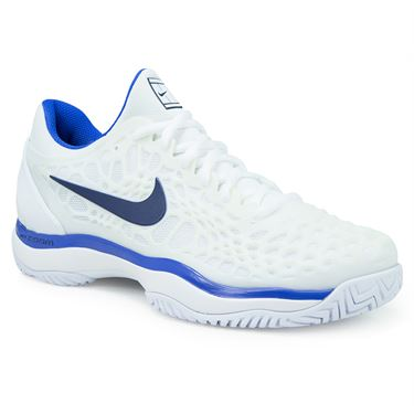 Nike Zoom Cage 3 Womens Tennis Shoe - White/Binary Blue/Mega Blue
