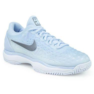 Nike Zoom Cage 3 Womens Tennis Shoe - Hydrogen Blue/Metallic Dark Grey/White
