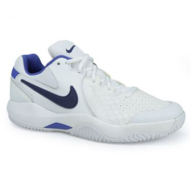 Nike Air Zoom Resistance Womens Tennis Shoe - White/Binary Blue/Mega Blue