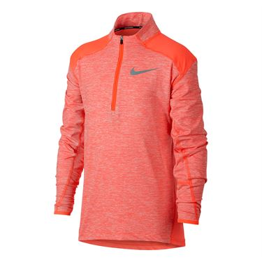 Nike Boys Dry Element Running Half Zip - Hyper Crimson